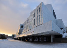 Salão de Finlandia. Arquitetura moderna, Helsínquia, Finlandia. Foto de Stock Royalty Free