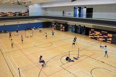 Salão de Hong Kong Badminton Fotografia de Stock Royalty Free