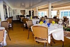Salão de jantar da pensão de Abaco, Abaco, Bahamas imagens de stock