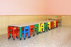 Salão de jantar para um jardim de infância imagem de stock royalty free
