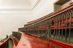 Salão de leitura vermelho do anfiteatro imagens de stock royalty free