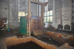 Salão de uma planta metalúrgica em desuso Foto de Stock Royalty Free