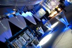Salão decorado da recepção Imagens de Stock Royalty Free
