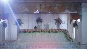 Salão do banquete do casamento vídeos de arquivo