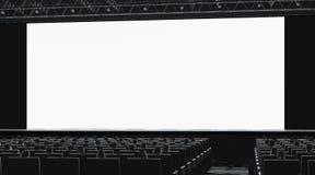 Salão do cinema com a audiência que olha no modelo vazio do monitor foto de stock royalty free