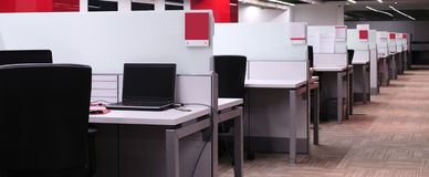 Salão do escritório. imagens de stock royalty free