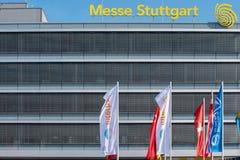 Salão do mercado internacional em Estugarda, Alemanha imagem de stock royalty free