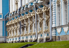 Salão do palácio de Katherine em Tsarskoe Selo (Pushkin), Rússia Fotografia de Stock Royalty Free