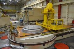 Salão do reator nuclear em um central elétrica Fotos de Stock