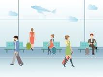 Salão do terminal de aeroporto Ilustração Royalty Free