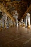Salão dos espelhos, palácio de Versalhes, França fotografia de stock