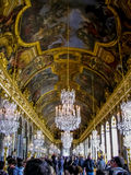 Salão dos espelhos - palácio de Versalhes - Versalhes, França Imagem de Stock Royalty Free