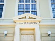 Salão dos registros imagem de stock