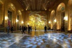 Salão dourado da cidade salão de Éstocolmo imagens de stock