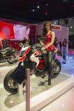 SALÃO DUAS RODAS - двенадцатые международные мотоцикл, части и оборудование показывают Стоковое Изображение RF