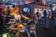 SALÃO DUAS RODAS - двенадцатые международные мотоцикл, части и оборудование показывают Стоковое Фото