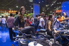 SALÃO DUAS RODAS - a 12os motocicleta, peças e equipamento internacionais mostram Fotografia de Stock