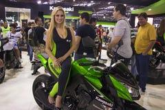 SALÃO DUAS RODAS - a 12os motocicleta, peças e equipamento internacionais mostram Fotografia de Stock Royalty Free