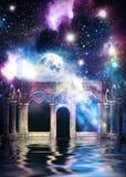 Salão e galáxia antigos ilustração stock