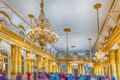 Salão heráldico, palácio do inverno, museu de eremitério, St Petersburg, Foto de Stock Royalty Free