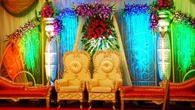 Salão indiano do casamento Foto de Stock