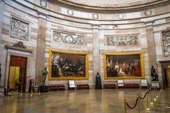 Salão interior da construção do Capitólio - Washington, D C , EUA fotos de stock royalty free