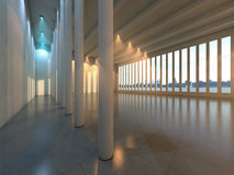 Salão moderno vazio Fotografia de Stock