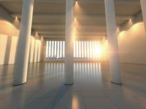 Salão moderno vazio Foto de Stock Royalty Free