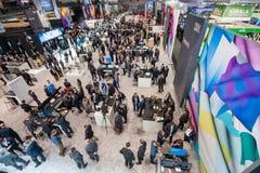 Salão 2 na feira profissional da tecnologia da informação de CeBIT Imagem de Stock