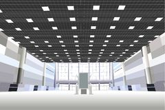 Salão no centro de negócios Imagem de Stock