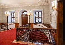 Salão no palácio fotografia de stock