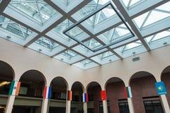 Salão para a reunião internacional foto de stock royalty free