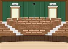 Salão principal da leitura da universidade com uma grande capacidade de assento ilustração stock