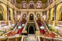 Salão principal do Museu Nacional checo imagens de stock royalty free