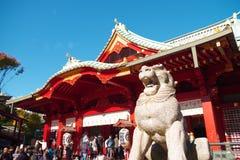 Salão principal do santuário de Kanda no Tóquio Japão Fotos de Stock Royalty Free
