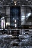 Salão trollay do cano principal da estação do reparo do poço da mina imagem de stock