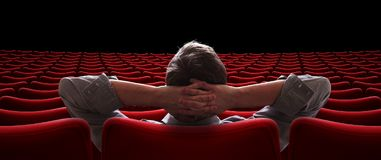 Salão vazio com o VIP que senta a ilustração 3d Imagens de Stock