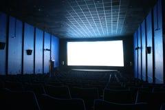 Salão vazio do cinema Fotografia de Stock Royalty Free