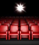 Salão vazio do cinema com auditório Fotografia de Stock
