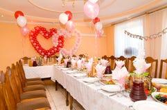 Salão Wedding do banquete imagem de stock