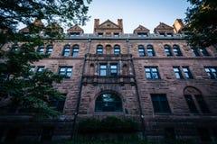 Salão Welch, no terreno de Yale University, em New Haven, conexão Imagens de Stock