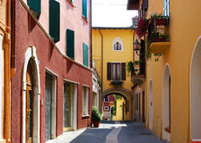 Salò (Italy) - alley Stock Photography