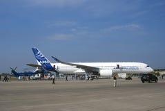 Salón aeroespacial internacional de MAKS Airbus A350 Imagen de archivo