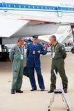 Salón aeroespacial internacional MAKS-2013 de los pilotos Imágenes de archivo libres de regalías