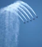 Salón aeronáutico de los ángeles azules Foto de archivo libre de regalías
