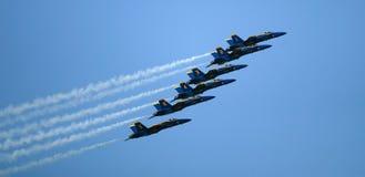 Salón aeronáutico de los ángeles azules Fotos de archivo