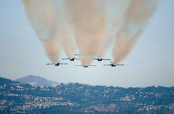Salón aeronáutico de los ángeles azules Imagen de archivo