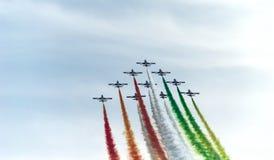Salón aeronáutico 2014 de Roma Fotos de archivo libres de regalías