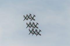 Salón aeronáutico 2014 de Roma Fotografía de archivo