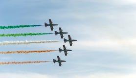 Salón aeronáutico 2014 de Roma Imagen de archivo libre de regalías